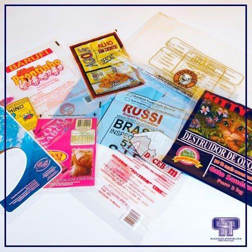 Embalagens plásticas pebd