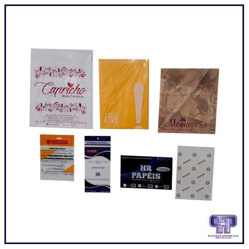 Embalagens plásticas personalizadas para confecção