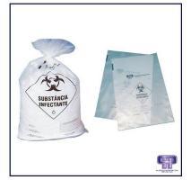 Saco de lixo infectante branco leitoso