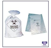 Saco plástico para resíduo infectante